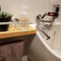 水栓蛇口を蛇腹へ変えて便利に&ミニ棚DIY